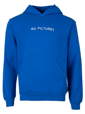 NO PICTURES HOODIE BLUE
