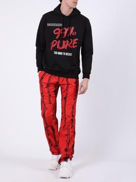 99% pure logo hoodie black
