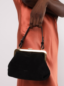 SMALL AGNES TOP HANDLE BAG BLACK