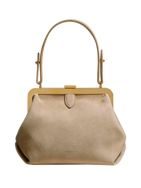 SMALL AGNES TOP HANDLE BAG BISCUIT