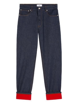Fold-Over Denim Pants