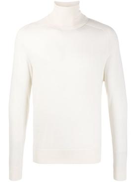 Ivory rib-knit jumper