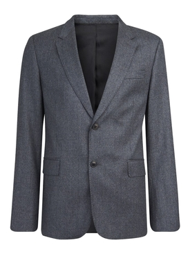 Single-breasted tailored blazer HEATHER GREY