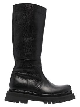 Lug Riding boots black