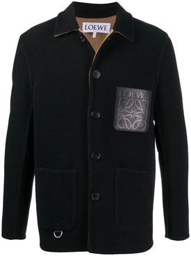 Black Wool Workwear Jacket