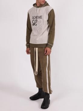Khaki green and ivory anagram hoodie