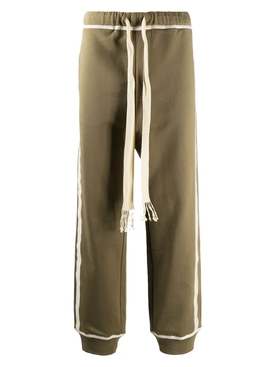 Anagram track trousers KHAKI GREEN/IVORY