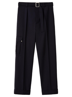 CROPPED CARGO TROUSERS DARK NAVY