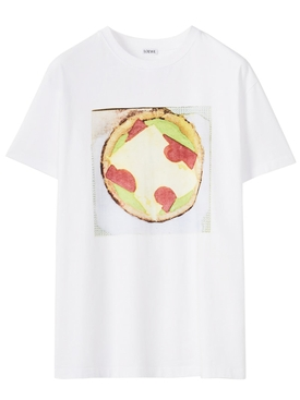 Pizza graphic t-shirt white