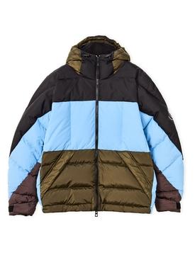 ELN Down Jacket Aqua Multicolor