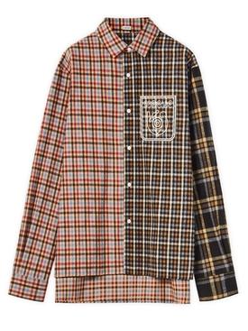 ELN Patchwork Flannel Shirt Multicolor
