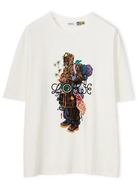 ELN Gang Box Print T-shirt White