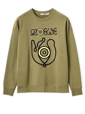 ELN Embroidery Sweatshirt Green Park
