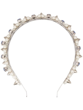 Pearl and Blue Crystal Headband