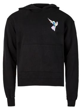 Hummingbird Pullover Hoodie Black