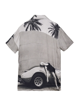 Heading South Short Sleeve Shirt, Black and White