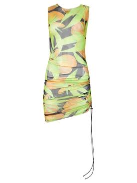 Heatwave Ruched Mesh Dress Sublime Flower