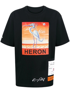 Classic bird logo t-shirt BLACK