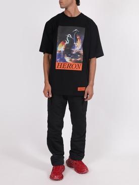Bird graphic print logo t-shirt BLACK