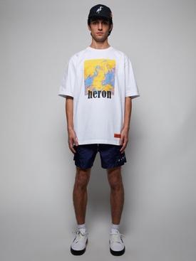 Heron Picture T-Shirt White/Yellow