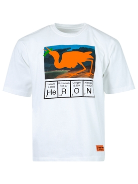 Regular Fit Cutout Logo T-shirt, WHITE