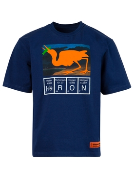 Regular Fit Cutout Logo T-shirt, BLUE
