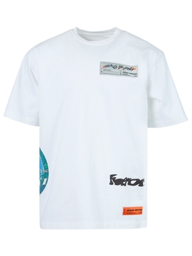 deep fried logo t-shirt, white