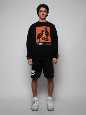 Heron Night Shift Pullover Sweatshirt
