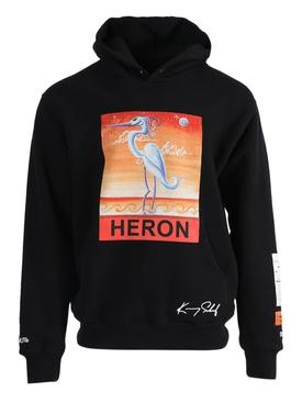 x Kenny Scharf Logo bird hoodie BLACK