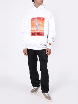 x Kenny Scharf Logo bird hoodie WHITE