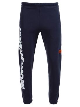 warped logo short leg sweatpants, anthracite