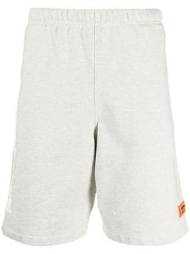 Logo graphic sweat shorts, grey mélange