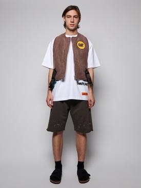 CAT Stone Canvas Harness Vest, Brown