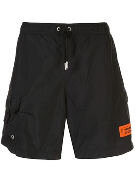 Heron Preston - Classic Swim Trunks Wit Logo Patch - Men