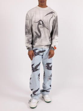 Bird print logo sweatshirt