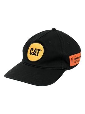 Cat Logo Patch Baseball Cap, BLACK AND YELLOW