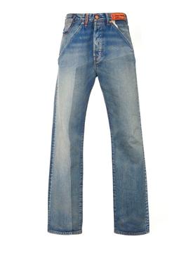 X Levi's 501 vintage wash jeans