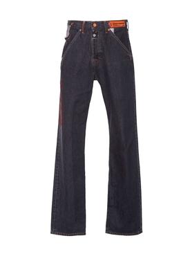 X Levi's 501 black wash jeans