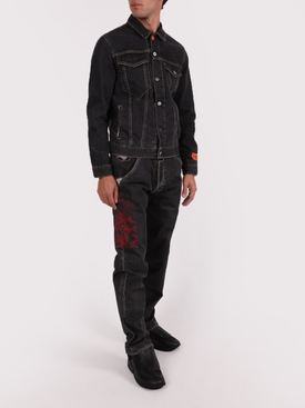 X Levis 501 black wash jeans