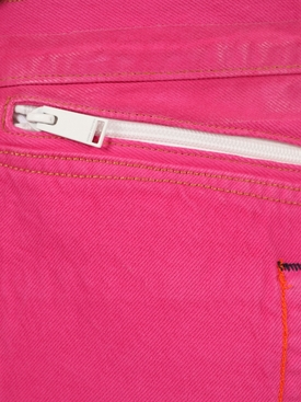 X Levi's 501 fuchsia garment dye jeans