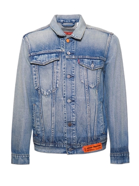 X Levi's concrete jungle vintage wash trucker denim jacket