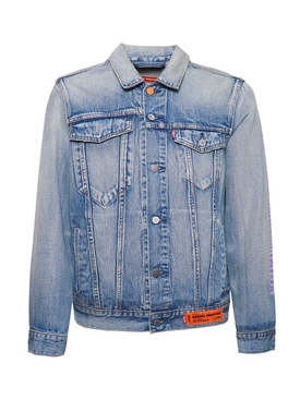 X Levi's vintage wash trucker denim jacket