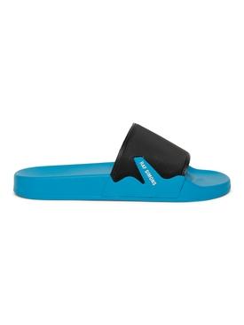 Astra Slide Sandals, BLACK AND BLACK