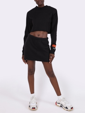 BLACK OVERSIZE CROPPED JUMPER