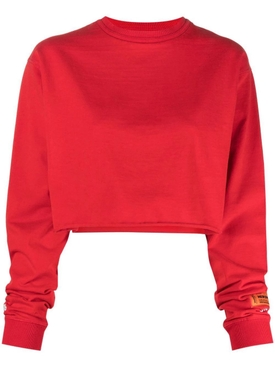 DIFFERENT CROP LONG-SLEEVE TEE Red