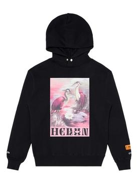 Birds graphic print hoodie