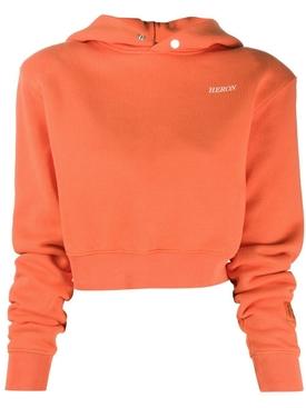 Cropped cotton hoodie GOLDEN POP