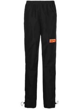 NYLON LOGO COULISSE PANTS, BLACK