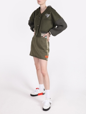 DARK OLIVE LOGO SWEAT SKIRT