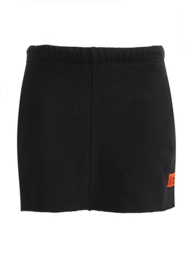 BLACK LOGO SWEAT SKIRT